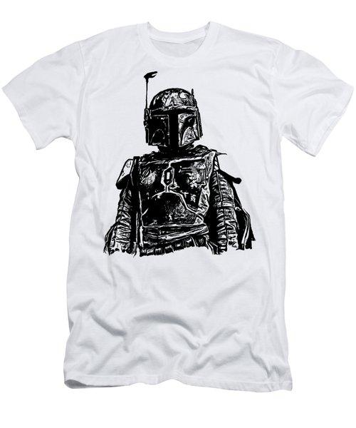 Boba Fett From The Star Wars Universe Men's T-Shirt (Slim Fit) by Edward Fielding
