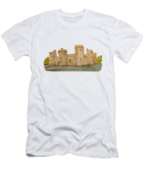 Bodiam Castle Men's T-Shirt (Slim Fit) by Angeles M Pomata