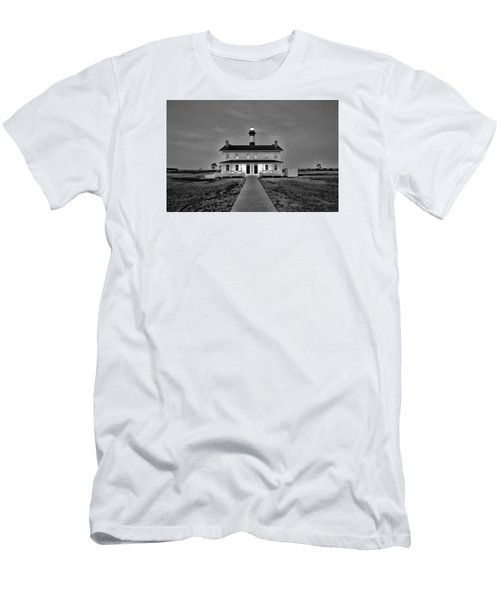 Bodie Lighthouse Night Men's T-Shirt (Slim Fit) by Marion Johnson