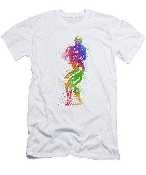 Bodybuilder Watercolor 2 Men's T-Shirt (Athletic Fit)