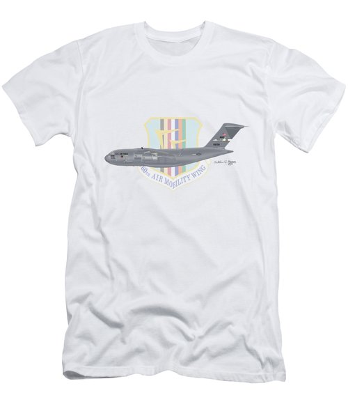 Men's T-Shirt (Slim Fit) featuring the digital art Boeing C-17 Globemaster IIi Travis Afb by Arthur Eggers