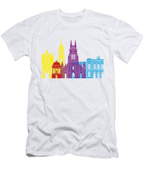 Bogota Skyline Pop Men's T-Shirt (Athletic Fit)