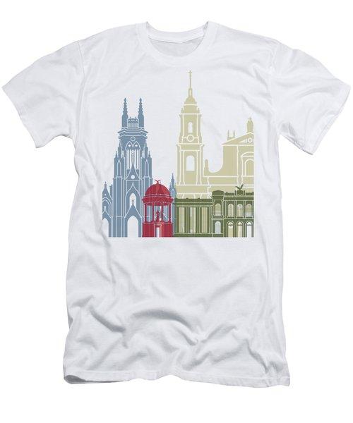 Bogota Skyline Poster Men's T-Shirt (Athletic Fit)