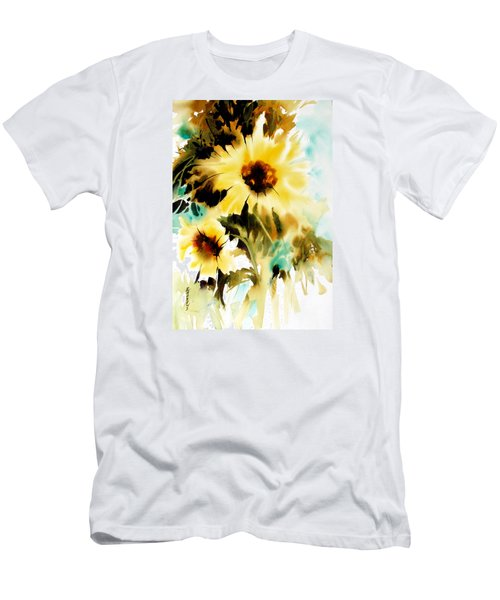 Men's T-Shirt (Slim Fit) featuring the painting Bold And Beautiful by Rae Andrews