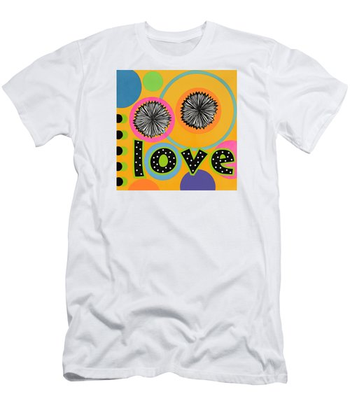 Men's T-Shirt (Slim Fit) featuring the mixed media Bold Love by Gloria Rothrock