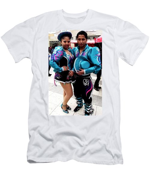 Bolivian Couple Dancers Men's T-Shirt (Athletic Fit)