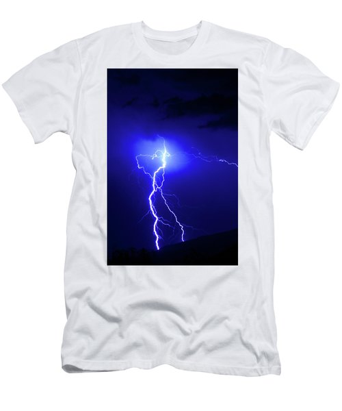 Bolt From The Blue Men's T-Shirt (Athletic Fit)
