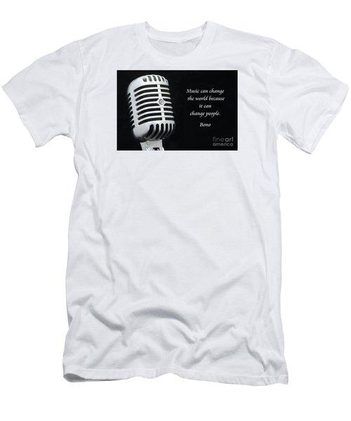Bono On Music Men's T-Shirt (Slim Fit) by Paul Ward