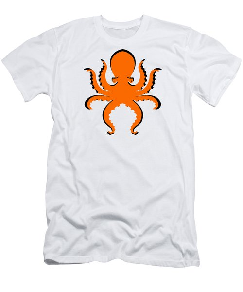 Men's T-Shirt (Slim Fit) featuring the photograph Boo The Big Orange Octopus  by Edward Fielding