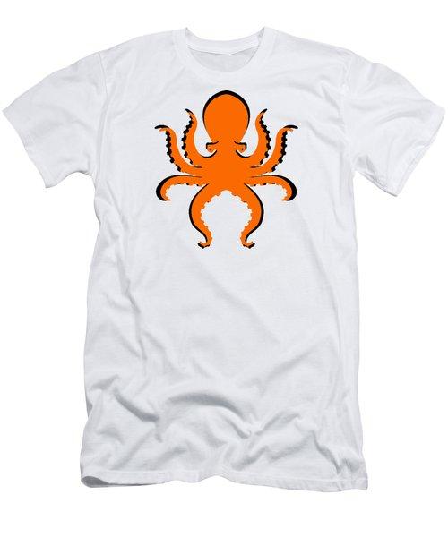 Boo The Big Orange Octopus  Men's T-Shirt (Athletic Fit)