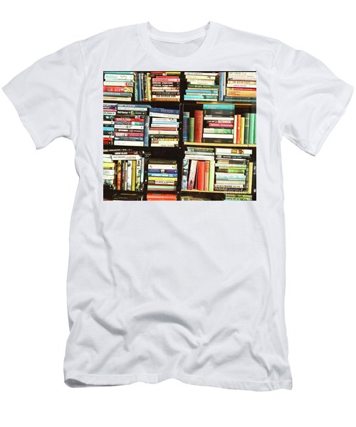 Men's T-Shirt (Slim Fit) featuring the photograph Book Shop by Rebecca Harman