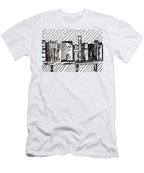Bookshelf 1 2015 - Aceo Men's T-Shirt (Slim Fit) by Joseph A Langley