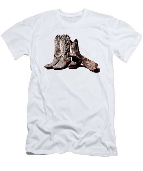 Boot Friends White Background Men's T-Shirt (Athletic Fit)