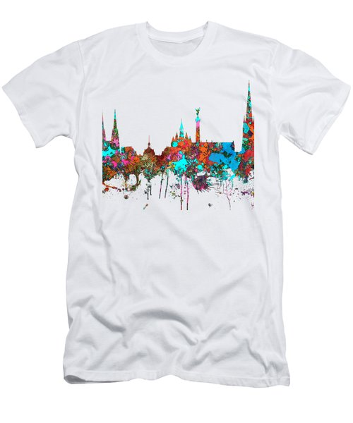 Bordeaux France  Skyline  Men's T-Shirt (Slim Fit) by Marlene Watson