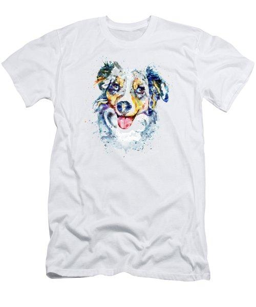 Border Collie  Men's T-Shirt (Slim Fit) by Marian Voicu