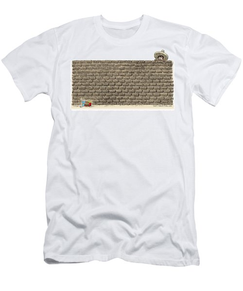 Border Wall Men's T-Shirt (Athletic Fit)