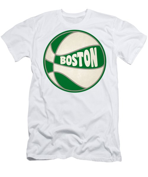 Boston Celtics Retro Shirt Men's T-Shirt (Slim Fit) by Joe Hamilton