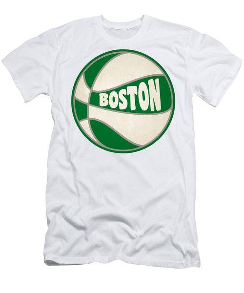 Boston Celtics Retro Shirt Men's T-Shirt (Slim Fit) by Joe Hamilton