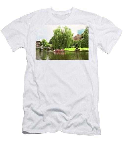 Boston Garden Swan Boat Men's T-Shirt (Athletic Fit)