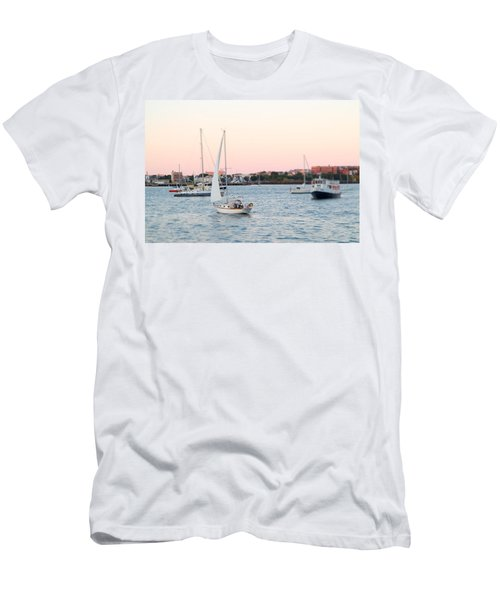 Boston Harbor View Men's T-Shirt (Athletic Fit)