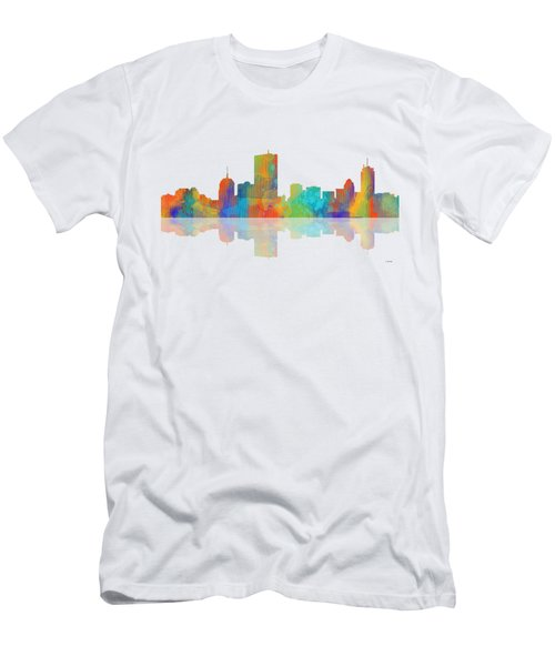 Boston Ma. Skyline Men's T-Shirt (Slim Fit)