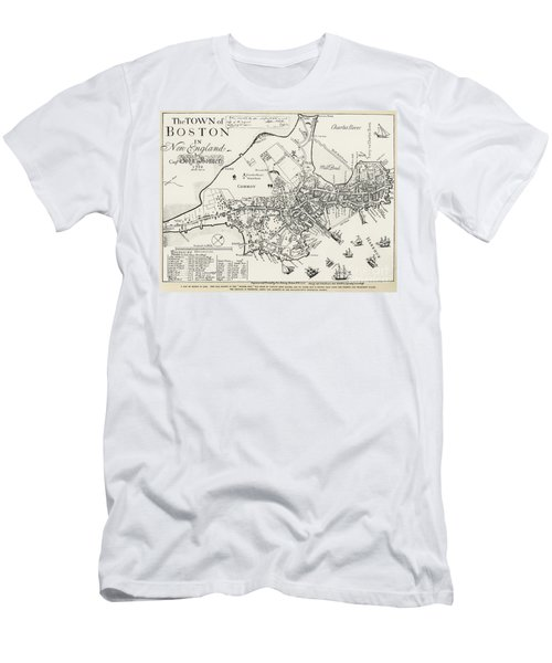 Boston Map, 1722 Men's T-Shirt (Athletic Fit)