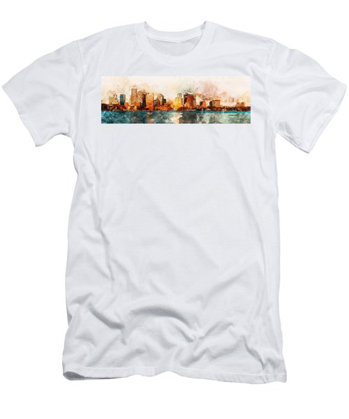 Boston, Panorama - 10 Men's T-Shirt (Athletic Fit)