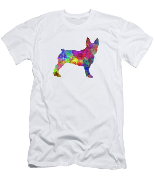 Boston Terrier 01 In Watercolor Men's T-Shirt (Athletic Fit)