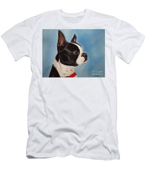 Boston Terrier Men's T-Shirt (Athletic Fit)