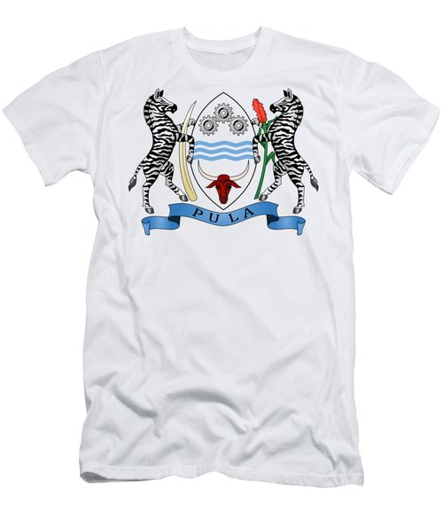 Botswana Coat Of Arms Men's T-Shirt (Athletic Fit)