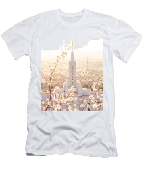 Bountiful Temple Blooms Men's T-Shirt (Athletic Fit)