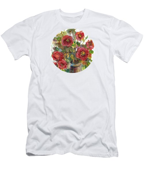 Bouquet Of Poppies Men's T-Shirt (Athletic Fit)