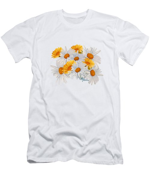 Bouquet Of Wild Flowers Men's T-Shirt (Slim Fit) by Angeles M Pomata