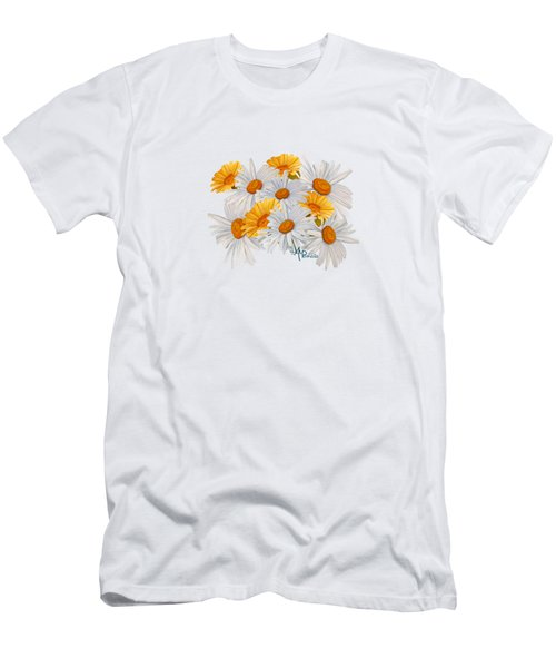 Bouquet Of Wild Flowers Men's T-Shirt (Athletic Fit)