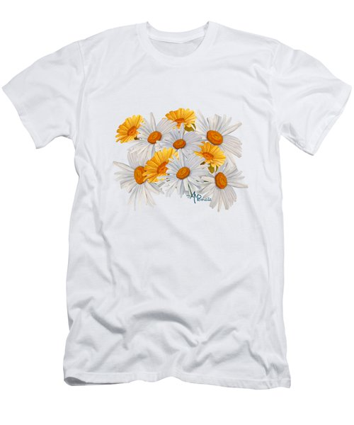 Men's T-Shirt (Athletic Fit) featuring the mixed media Bouquet Of Wild Flowers by Angeles M Pomata