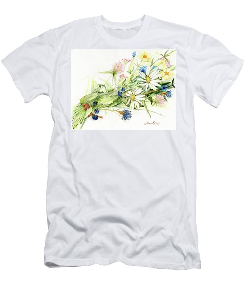 Bouquet Of Wildflowers Men's T-Shirt (Athletic Fit)