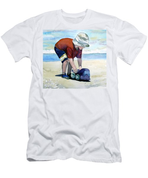 Boy With Truck Men's T-Shirt (Athletic Fit)