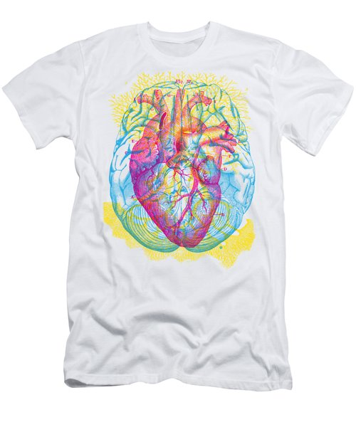 Brain Heart Circulation Men's T-Shirt (Athletic Fit)