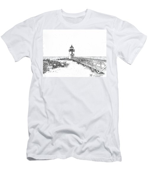 Brant Point Lighthouse Men's T-Shirt (Athletic Fit)