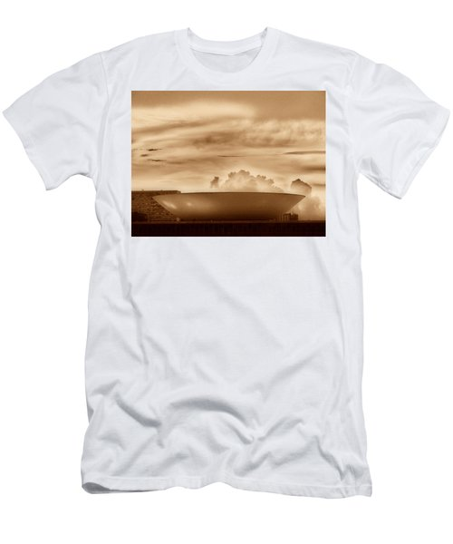 Men's T-Shirt (Slim Fit) featuring the photograph Brasilia In Sepia by Beto Machado