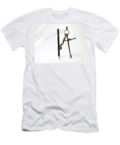 Brass Compass And Pencil Men's T-Shirt (Athletic Fit)