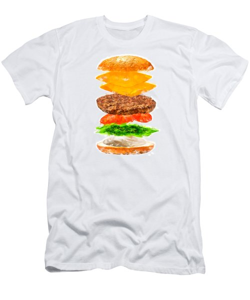 Brazilian Salad Cheeseburger Men's T-Shirt (Slim Fit) by Caito Junqueira