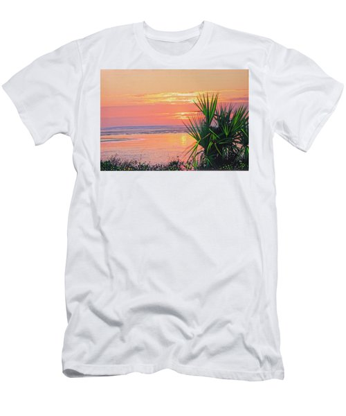 Breach Inlet Sunrise Palmetto  Men's T-Shirt (Athletic Fit)