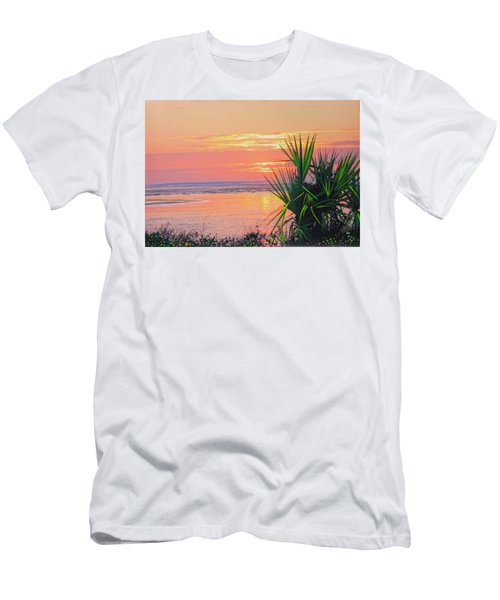 Breach Inlet Sunrise Palmetto  Men's T-Shirt (Athletic Fit)