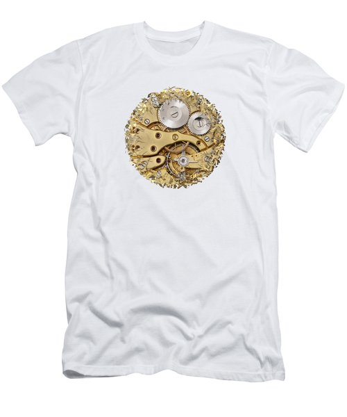 Men's T-Shirt (Slim Fit) featuring the photograph Breaking Apart Clockwork Mechanism by Michal Boubin