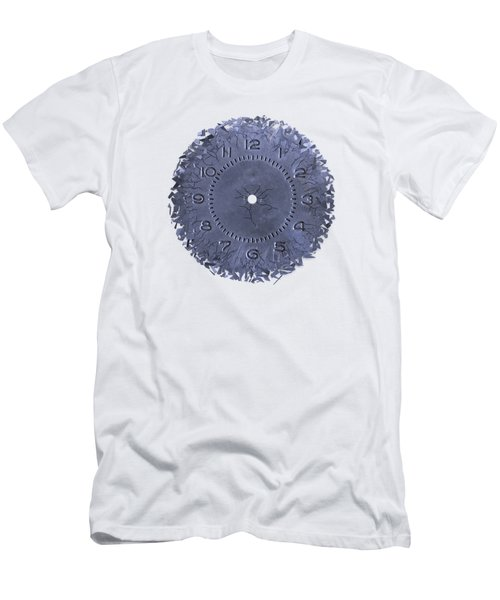 Men's T-Shirt (Slim Fit) featuring the photograph Breaking Apart Of The Old Clock Face by Michal Boubin