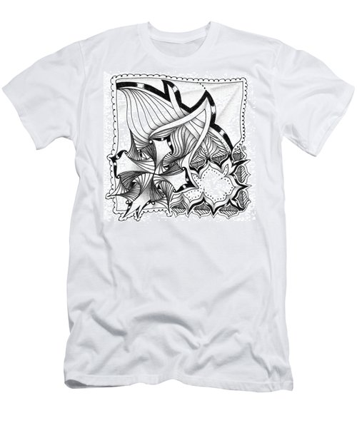 Men's T-Shirt (Athletic Fit) featuring the drawing Breakthrough by Jan Steinle