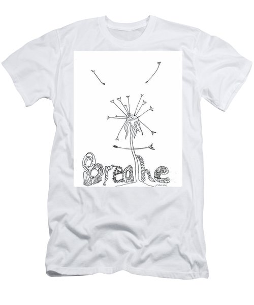 Breathe Men's T-Shirt (Slim Fit) by D Renee Wilson