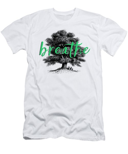 Men's T-Shirt (Slim Fit) featuring the photograph Breathe Shirt by Edward Fielding