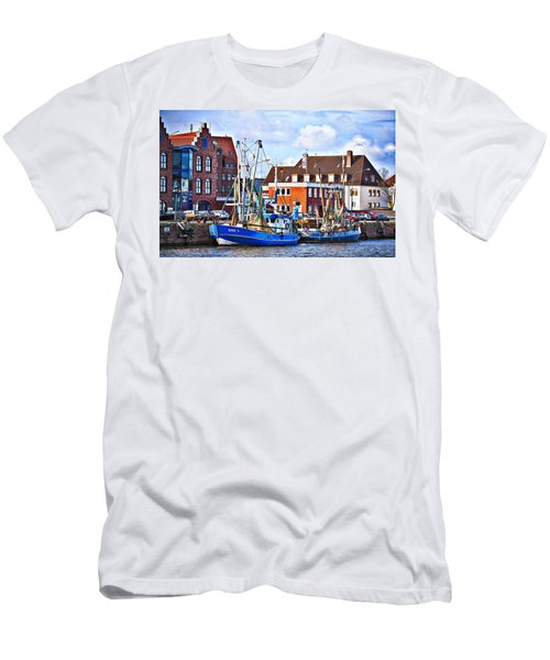 Bremerhaven Harbor, Germany Men's T-Shirt (Athletic Fit)